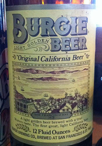 Burgie Beer label