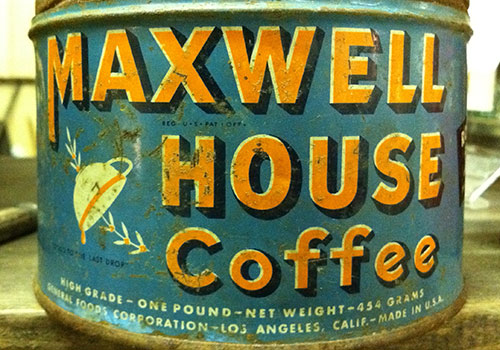 Vintage Maxwell Coffee House tin