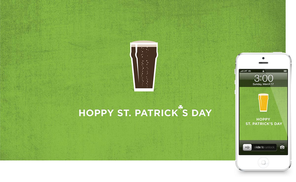 Hoppy St. Patrick's Day Wallpaper