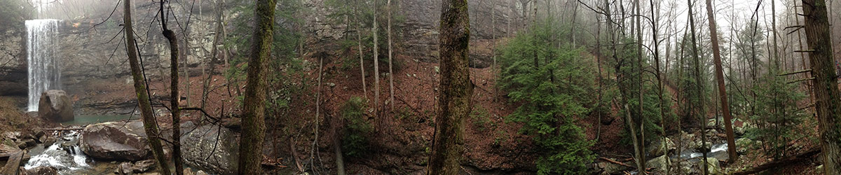Panoramic shot from Cloudland Canyon