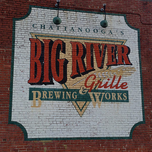 Big River Grille Vintage Typography