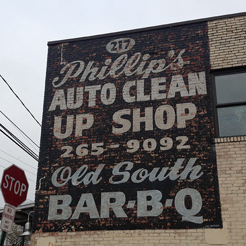 Phillips Auto Clean Up Shop Vintage Typography